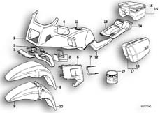 Goto diagram: BMW Classic Motorbike Model K 100 LT 87 (0506,0516)( ECE ), Category 51.20 Painted parts 676 perlgrün :: Diagram: 51_0122