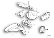 Goto diagram: BMW Classic Motorrad Modell R 100 R 91( USA ), Category 51.20 Painted parts 525 tuerkisgrün :: Diagram: 51_0126