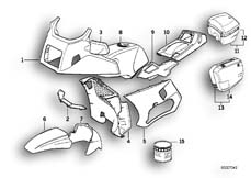 Goto diagram: BMW Classic Motorbike Model K 1100 LT (0526, 0536)( ECE ), Category 51.20 PAINTED PARTS 682 ROT :: Diagram: 51_0132