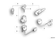 Goto diagram: BMW Classic Motorbike Model F 650 ST 97 (0163,0168)( ECE ), Category 51.25 SET OF LOCKS :: Diagram: 51_0172