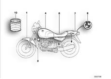 Goto diagram: BMW Classic Motorbike Model R 100 R Mystik 94( ECE ), Category 51.20 PAINTED PARTS 689 MYSTIKROT :: Diagram: 51_0176