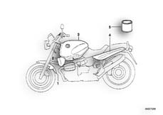 Goto diagram: BMW Classic Motorrad Modell R 1100 R 94 (0402,0407)( USA ), Category 51.20 painted parts 722 aspen si/night blk :: Diagram: 51_0184