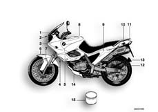 Goto diagram: BMW Classic Motorbike Model F 650 97 (0162)( ECE ), Category 51.20 PAINTED PARTS 695 FLAMMROT :: Diagram: 51_0200