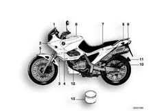 Goto diagram: BMW Classic Motorbike Model F 650 ST 97 (0163,0168)( ECE ), Category 51.20 PAINTED PARTS 727 ORLANDOORANGE :: Diagram: 51_0201