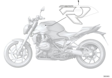 Goto diagram: BMW Classic Motorrad Modell R 1200 R (0A04, 0A14)( ECE ), Category 51.14 Stick-on label :: Diagram: 51_0944