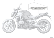 Goto diagram: BMW Classic Motorrad Modell R 1200 R (0A04, 0A14)( ECE ), Category 51.14 Stick-on label :: Diagram: 51_0946