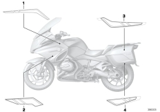 Goto diagram: BMW Classic Motorrad Modell R 1200 RT (0A03, 0A13)( USA ), Category 51.14 Stick-on label :: Diagram: 51_0947