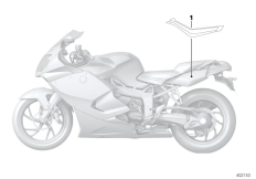 Goto diagram: BMW Classic Motorbike Model K 1300 S (0508,0509)( ECE ), Category 51.14 Sticker for rear side section :: Diagram: 51_2275