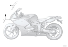 Goto diagram: BMW Classic Motorbike Model K 1300 S (0508,0509)( ECE ), Category 51.14 Label, fairing top section :: Diagram: 51_2306