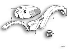 Goto diagram: BMW Classic Motorrad Modell R 80 G/S( ECE ), Category 51.20 PAINTED PARTS 558 DUNKELBLAU :: Diagram: 51_2441