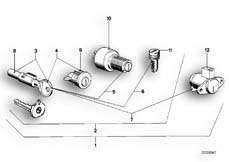 Goto diagram: BMW Classic Motorbike Model R65( USA ), Category 51.15 SET OF LOCKS :: Diagram: 51_2452