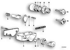 Goto diagram: BMW Classic Motorbike Model R 100 S( ECE ), Category 51.15 MOUNTING PARTS F SET OF LOCKS :: Diagram: 51_2453