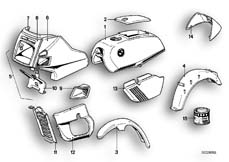 Goto diagram: BMW Classic Motorbike Model R45( ECE ), Category 51.20 PAINTED PARTS 590 AVUSSCHWARZ :: Diagram: 51_2472