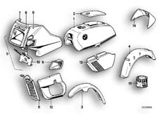 Goto diagram: BMW Classic Motorbike Model R45( ECE ), Category 51.20 Painted parts 597 minzgrün :: Diagram: 51_2473