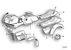 Goto diagram: BMW Classic Motorbike Model R 100 RS( USA ), Category 51.20 PAINTED PARTS 553 DUNKELROT :: Diagram: 51_2559