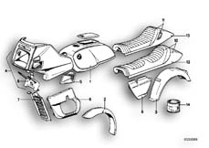 Goto diagram: BMW Classic Motorbike Model R 100 RT( USA ), Category 51.20 PAINTED PARTS 571 PERLMUTT :: Diagram: 51_2561