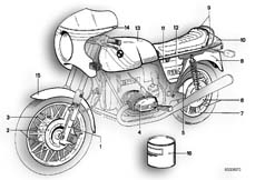 Goto diagram: BMW Classic Motorbike Model R 100 S( ECE ), Category 51.20 PAINTED PARTS 131 HELLSILBER :: Diagram: 51_2574