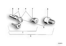 Goto diagram: BMW Classic Motorbike Model R75/5( ECE ), Category 51.15 SET OF LOCKS :: Diagram: 51_2580