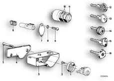 Goto diagram: BMW Classic Motorbike Model R75/5( ECE ), Category 51.15 MOUNTING PARTS F SET OF LOCKS :: Diagram: 51_2581