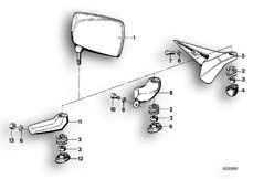 Goto diagram: BMW Classic Motorbike Model R 100 S( ECE ), Category 51.10 Mirror :: Diagram: 51_2591