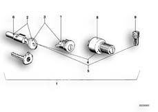 Goto diagram: BMW Classic Motorbike Model R 100 S( ECE ), Category 51.15 SET OF LOCKS :: Diagram: 51_2592