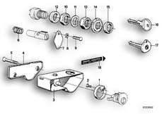 Goto diagram: BMW Classic Motorbike Model R65( USA ), Category 51.15 MOUNTING PARTS F SET OF LOCKS :: Diagram: 51_2603