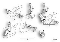 Goto diagram: BMW Classic Motorbike Model K 1100 LT (0526, 0536)( ECE ), Category 51.25 SET OF LOCKS :: Diagram: 51_2628