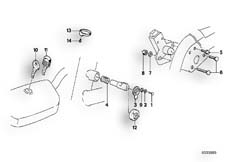 Goto diagram: BMW Classic Motorbike Model K 1100 LT (0526, 0536)( ECE ), Category 51.25 SET OF LOCKS :: Diagram: 51_2629