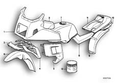 Goto diagram: BMW Classic Motorbike Model K 100 LT 87 (0506,0516)( ECE ), Category 51.20 PAINTED PARTS 605 MADISON :: Diagram: 51_2646