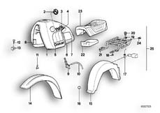 Goto diagram: BMW Classic Motorrad Modell R 80 G/S( ECE ), Category 51.20 PAINTED PARTS 592 ALPINWEISS :: Diagram: 51_2647