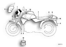 Goto diagram: BMW Classic Motorbike Model K 75 84 (0561)( ECE ), Category 51.20 PAINTED PARTS 608 AVUSSCHWARZ :: Diagram: 51_2719