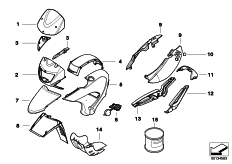 Goto diagram: BMW Classic Motorbike Model G 650 GS 09 (0178,0179)( ECE ), Category 51.20 Primed parts :: Diagram: 51_2815