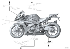 Goto diagram: BMW Classic Motorrad Modell HP4 (0D01, 0D11)( ECE ), Category 51.14 Stick-on label :: Diagram: 51_2885