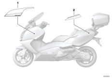 Goto diagram: BMW Classic Motorrad Modell C 650 GT (0133, 0134)( ECE ), Category 51.14 Lettering C6050GT Edition :: Diagram: 51_2942