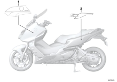 Goto diagram: BMW Classic Motorbike Model C 600 Sport (0131, 0132)( ECE ), Category 51.14 Lettering C600 Sport :: Diagram: 51_2943