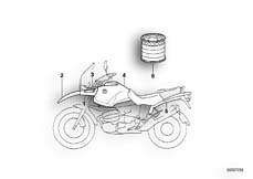 Goto diagram: BMW Classic Motorbike Model R 1100 GS 94 (0404,0409)( USA ), Category 51.20 painted parts 737 marrakesh red/white :: Diagram: 51_3220