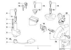 Goto diagram: BMW Classic Motorbike Model K 1100 LT (0526, 0536)( ECE ), Category 51.25 locks :: Diagram: 51_3484