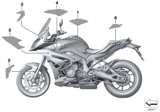 Goto diagram: BMW Classic Motorbike Model S 1000 XR (0D23)( BRA ), Category 51.14 Stick-on label :: Diagram: 51_3486