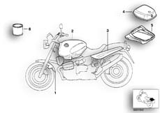 Goto diagram: BMW Classic Motorrad Modell R 1100 R 94 (0402,0407)( ECE ), Category 51.20 Painted parts 754 schwarzblau :: Diagram: 51_3710