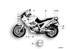 Goto diagram: BMW Classic Motorbike Model F 650 ST 97 (0163,0168)( USA ), Category 51.20 Painted parts, 715 tiefschwarz :: Diagram: 51_3856