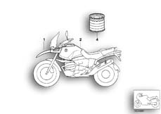 Goto diagram: BMW Classic Motorrad Modell R 1150 GS 00 (0415,0495)( ECE ), Category 51.20 Painted parts 764 titansilber :: Diagram: 51_3910