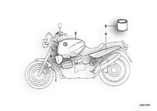 Goto diagram: BMW Classic Motorrad Modell R 1100 R 94 (0402,0407)( USA ), Category 51.20 Painted parts 763 Graphit/Frostblau :: Diagram: 51_4079