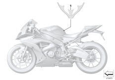 Goto diagram: BMW Classic Motorbike Model S 1000 RR 17 (0D50, 0D60)( ECE ), Category 51.14 Label, fuel tank :: Diagram: 51_4110