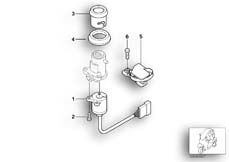 Goto diagram: BMW Classic Motorrad Modell C1 (0191)( ECE ), Category 51.25 Ignition switch and mounting parts :: Diagram: 51_4234