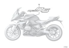 Goto diagram: BMW Classic Motorrad Modell R 1200 RS (0A05, 0A15)( USA ), Category 51.14 Stick-on label :: Diagram: 51_4247