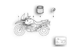 Goto diagram: BMW Classic Motorrad Modell R 1150 GS 00 (0415,0495)( ECE ), Category 51.20 Painted parts, 793 pazifikblau/alpinw. :: Diagram: 51_4254