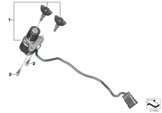 Goto diagram: BMW Classic Motorrad Modell G 310 GS (0G02, 0G12)( USA ), Category 51.25 Ignition lock :: Diagram: 51_4265