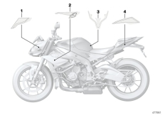 Goto diagram: BMW Classic Motorbike Model S 1000 R 17 (0D72)( BRA ), Category 51.14 Stick-on label :: Diagram: 51_4282