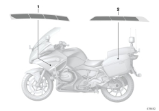 Goto diagram: BMW Classic Motorrad Modell R 1200 RT (0A03, 0A13)( USA ), Category 51.16 Government authorities sticker :: Diagram: 51_4368