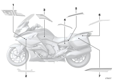 Goto diagram: BMW Classic Motorrad Modell K 1600 GT 17 (0F01, 0F11)( ECE ), Category 51.14 Stick-on label :: Diagram: 51_4373